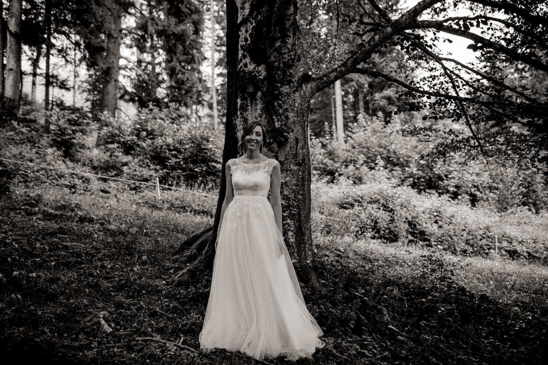 Hochzeitsfotograf Vorarlberg-Hüttenhochzeit-braut portrait