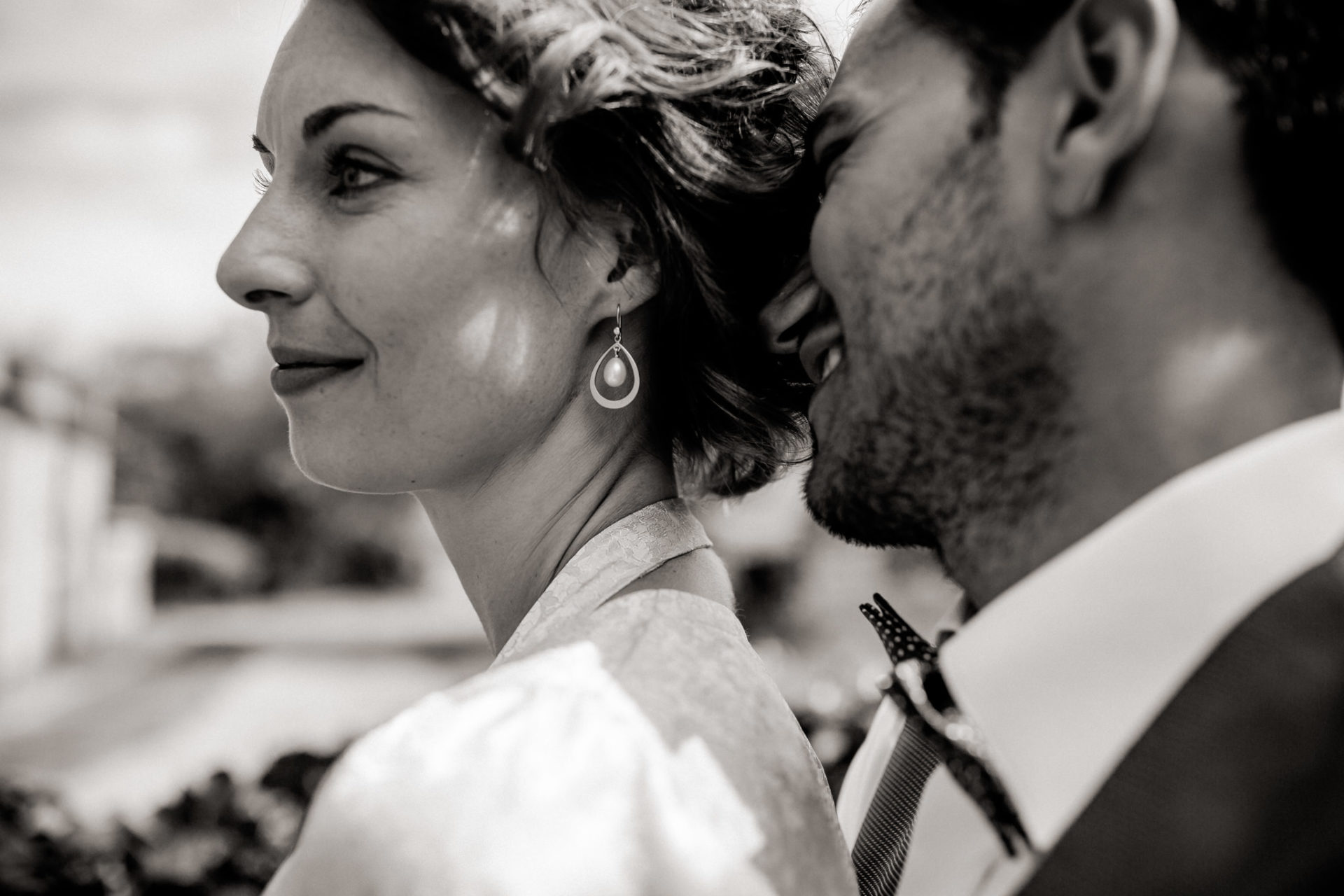 Hochzeitsfotograf Amalfi Küste-heiraten Italien-schwarzweiß Portrait Brautpaar
