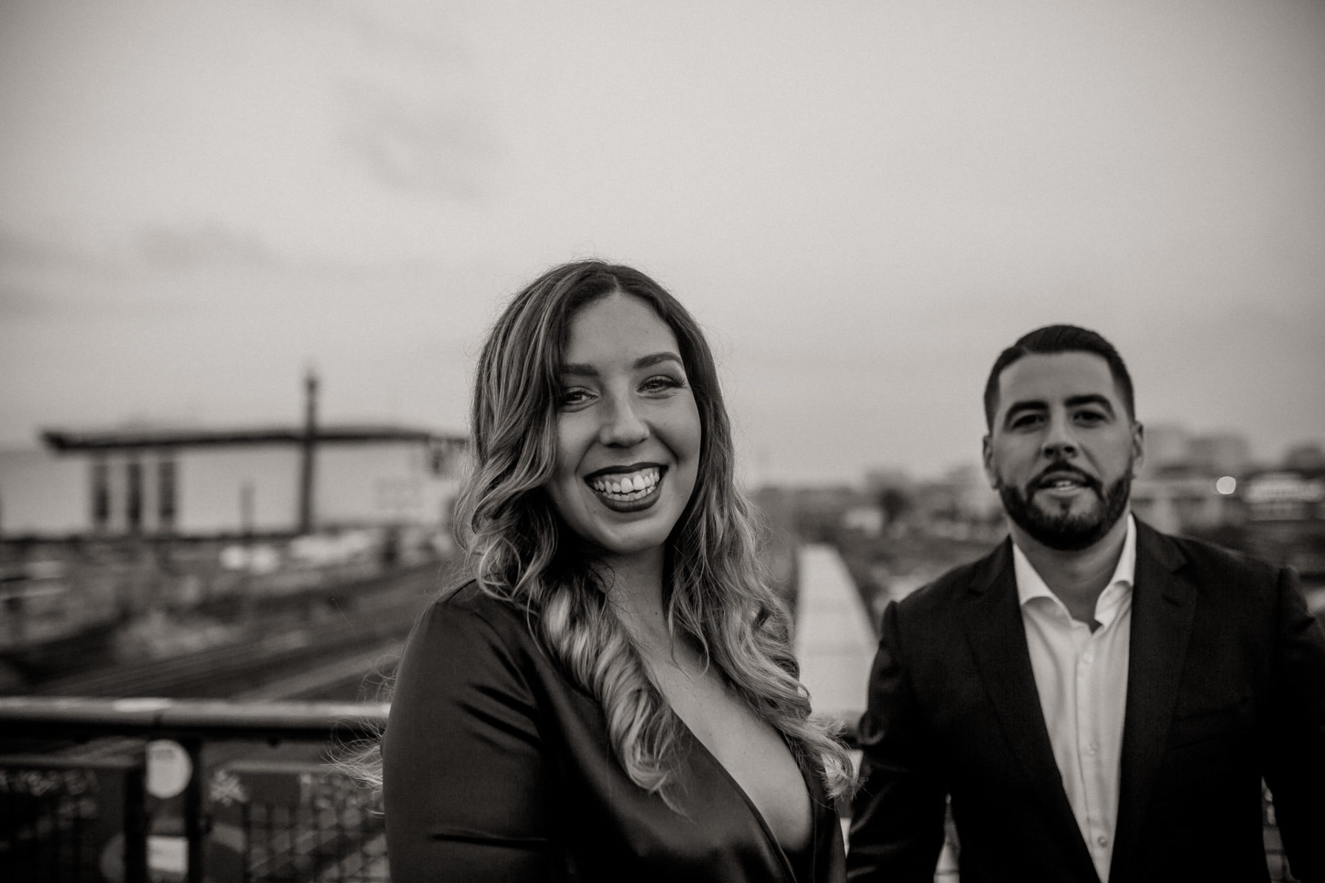 Verlobungsfotos Berlin-schwarzweiß Portrait