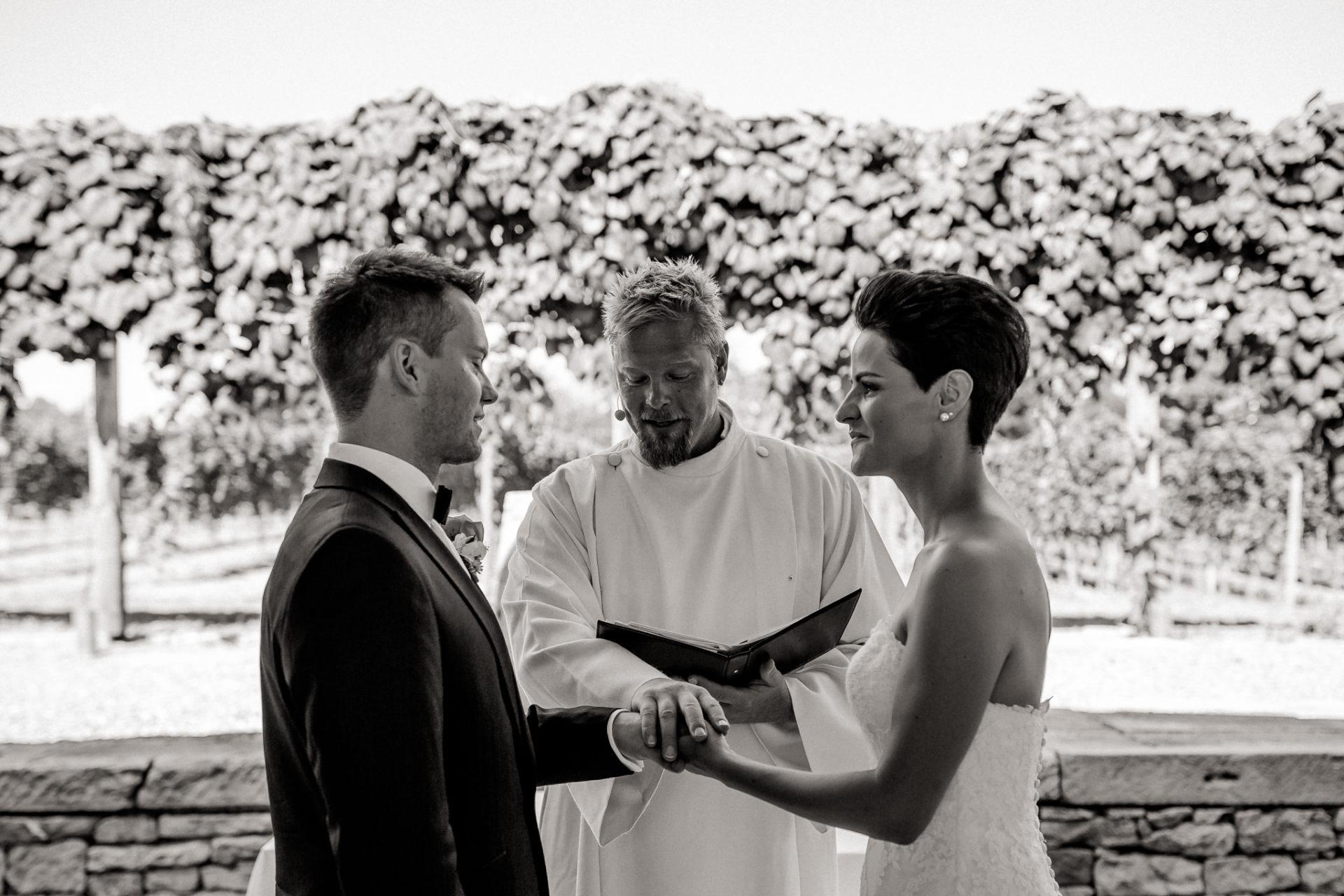 Weingut Fitz Ritter Hochzeitsfotograf-heiraten Pfalz-Sommerhochzeit Freie Trauung Brautpaar