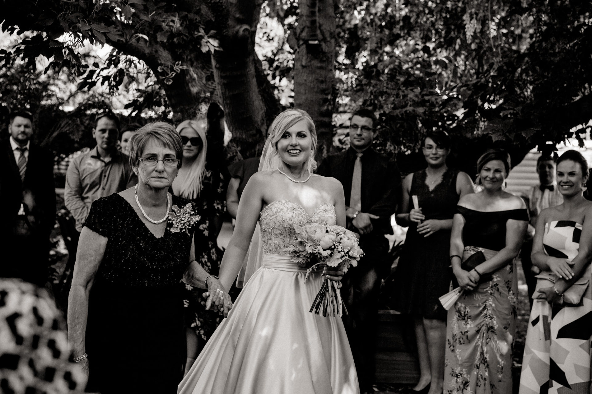 backyard-wedding-australia-melbourne-ceremony-grandma-walk-down-isle