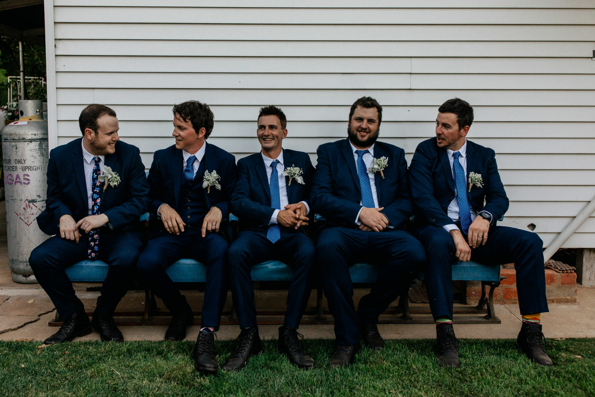 backyard-wedding-australia-melbourne-bridal-party-groomsmen-blue-suits