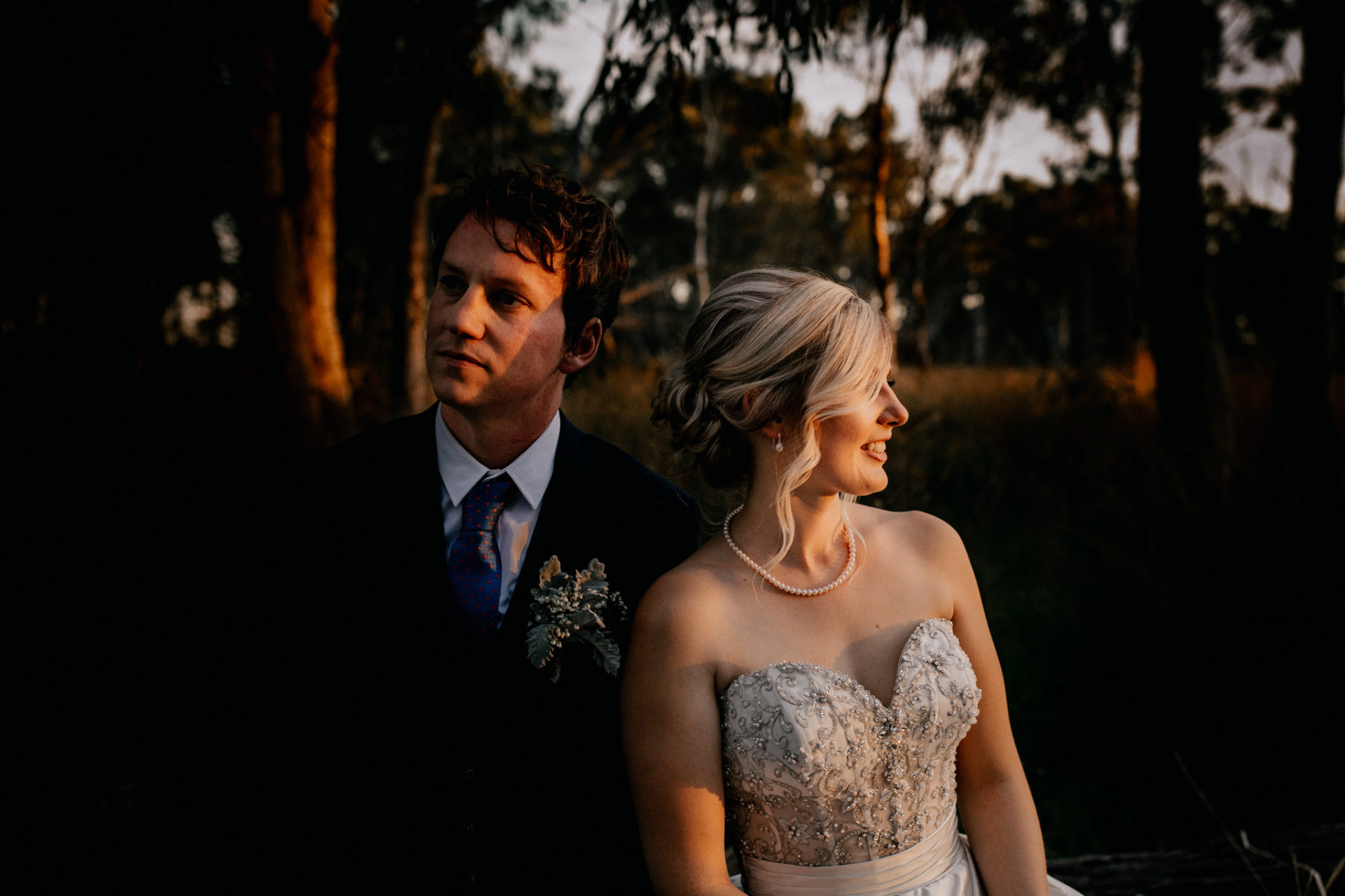 backyard-wedding-australia-melbourne-bride-groom-portrait-creative-sunset