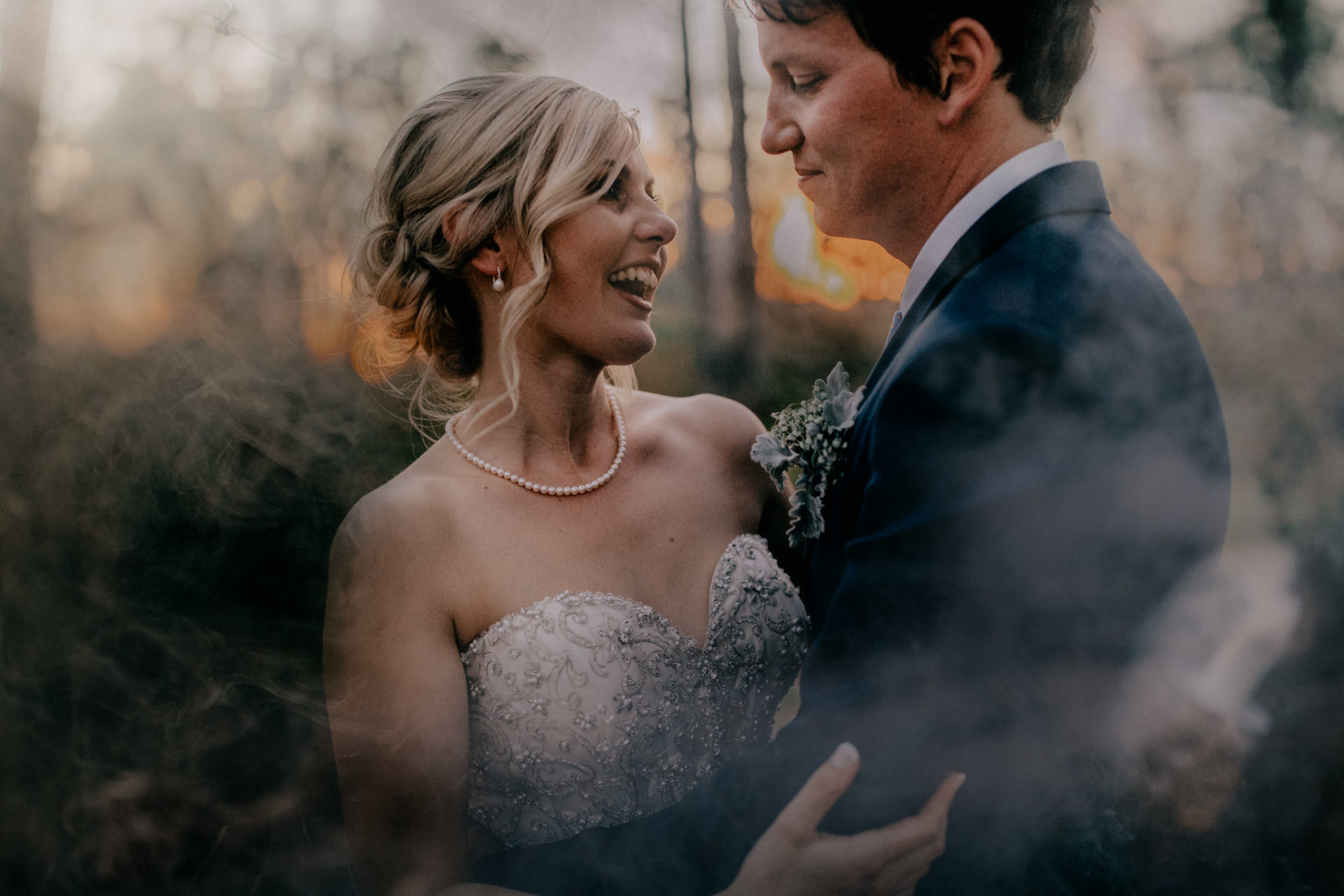 backyard-wedding-australia-melbourne-bride-groom-portrait-smoke-fire